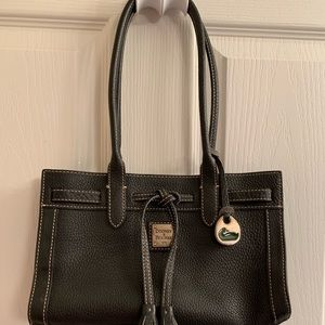 Beautiful black leather Dooney and Bourke bag